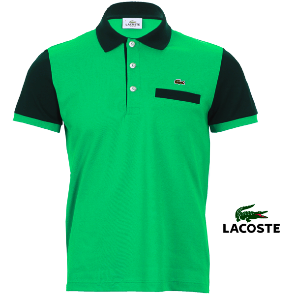 Lacoste Slim Fit Two Tones Mint Green Color Polo