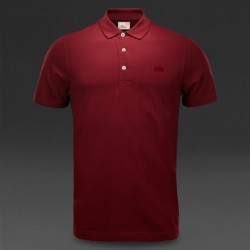 ~Lacoste Vintage Washed Limited Edition Maroon Color Polo Shirt