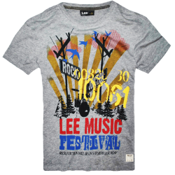 ~LEE Music Graphic Printed Mel Grey Tshirt