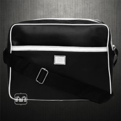 ~LEE Leather Black Messenger Shoulder Bag