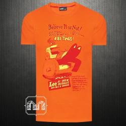 ~LEE Graphic Printed Orange Color Tshirt
