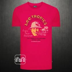 ~LEE Tropics Grewneck Graphic Printed Pink Tshirt