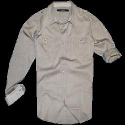 ~Levis Grey Press Stud Fastening Buttons Full Sleeve Shirt