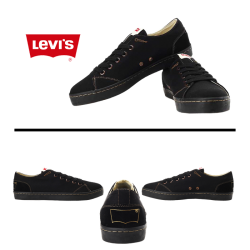 ~Levis Black Canvas Sneaker Shoes
