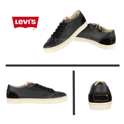 ~Levis Black Leather Sneaker