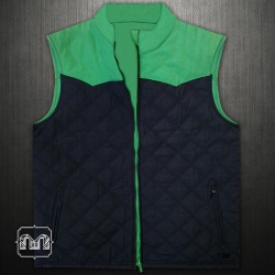 ~Levis Navy Green Reversible Vest Jacket With Front Zippered Pockets