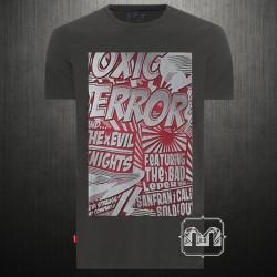 ~Levis Grey Printed Tshirt Toxic Terror