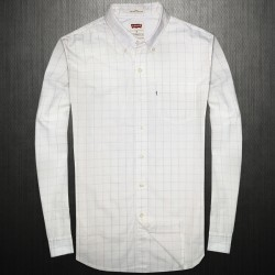 ~Levis White Checkered Button Down Shirt