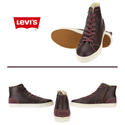 ~Levis Purple Hued Hitop Sneaker With Lace & Side Zipper