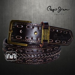 ~Pepe Jeans London Genuine Leather Smart Casual Brown Belt