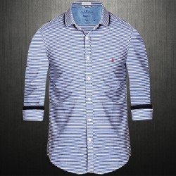 ~Pepe Jeans London Sintex Indigo Horizontal Stripes Blue Shirt