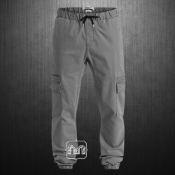 ~Quiksilver Mens Grey Neo Epiphone Slim Tapered Fit Cargo Jogger Pant Dark Shadow