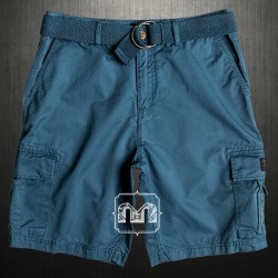 ~Quiksilver Mens Blue Indian Teal Rouge Beats Cargo Casual Bermuda Shorts