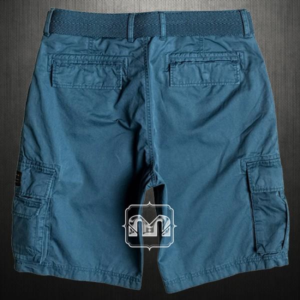 5815e58849 ~Quiksilver Mens Blue Indian Teal Rouge Beats Cargo Casual Bermuda Shorts