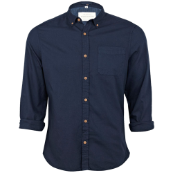 ~River Island Oxford Button Down Long Sleeve Navy Shirt
