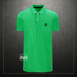 b43e91268 Selected Homme Men Green Cotton Pique Daro Polo Shirt With Contrast Placket  & Chest Embroidery