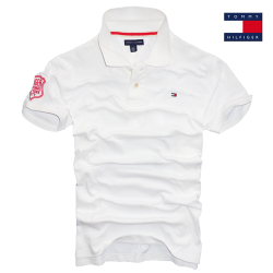 ~Tommy Hilfiger White Solid Polo