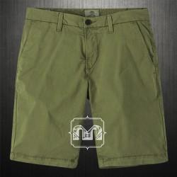 Timberland Mens Olive Green Squam Lake Stretch Chino Straight Fit Bermuda Shorts Back Flap Pockets