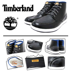 ~Timberland 6 Eye Chukka Navy White Half Boot