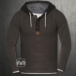~Tom Tailor Brown Hooded Sweatshirt With Underlying Tshirt