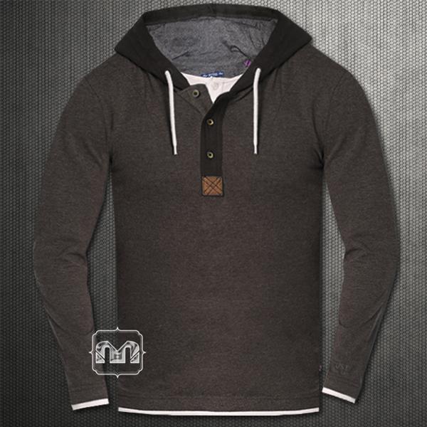 tom tailor brown hooded sweatshirt with underlying tshirt. Black Bedroom Furniture Sets. Home Design Ideas