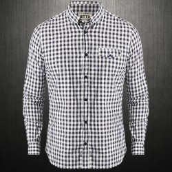 ~Tom Tailor Grey Checkered Button Down Long Sleeves Shirt