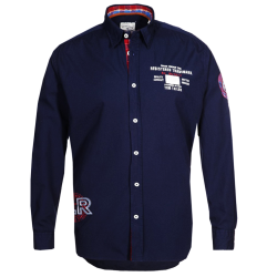 ~Tom Tailor Navy Blue Ray Long Sleeve Shirt