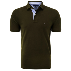 ~Tommy Hilfiger New Knit Brown Solid Polo