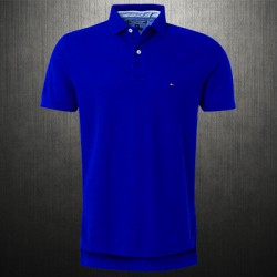 ~Tommy Hilfiger New Knit Blue Polo Shirt