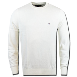 ~Tommy Hilfiger Classic Crewneck White Cream Jumper Sweater