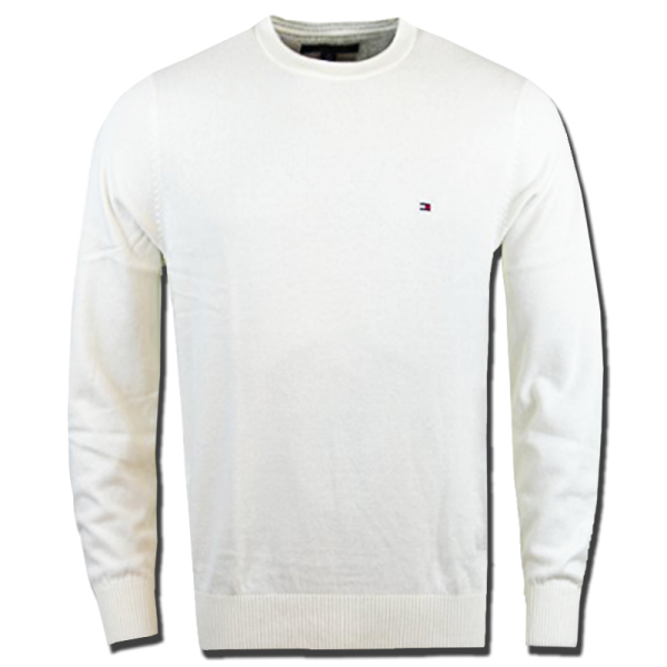 8a00f892 ~Tommy Hilfiger Classic Crewneck White Cream Jumper Sweater | Malaabes  Online Shopping Store in Egypt Promoting Original Mens Designer Clothing  Brands