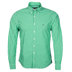 ~Tommy Hilfiger Green White Checkered Shirt New York Fit