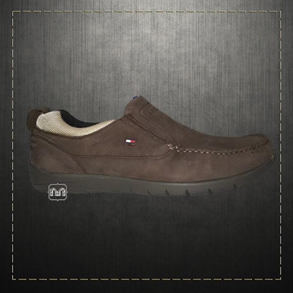 13ef5c7b6faf ~Tommy Hilfiger Men Suede Leather Brown Slip on Shoes