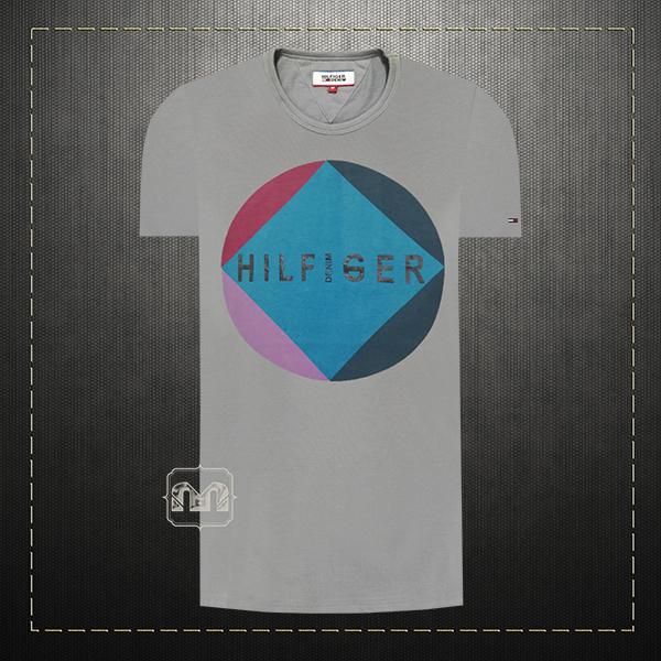 adc1ce3c7632 Tommy Hilfiger Denim Men Printed Grey Crewneck Short Sleeves Cotton Tshirt  | Malaabes Online Shopping Store in Egypt Promoting Original Mens Designer  ...