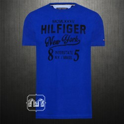 Tommy Hilfiger Men Navy Crewneck Printed Tshirt