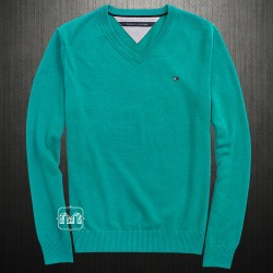 ~Tommy Hilfiger Blue Pacific Vneck Sweater Jumper