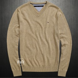~Tommy Hilfiger Brown Pacific Vneck Sweater Jumper