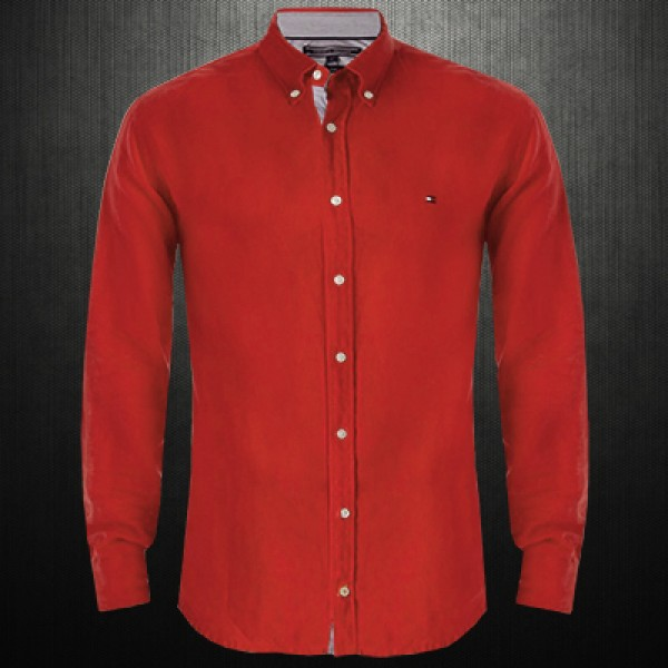 df18640bbae ~Tommy Hilfiger Solid Oxford Maroon Long Sleeve Shirt | Malaabes Online  Shopping Store in Egypt Promoting Original Mens Designer Clothing Brands
