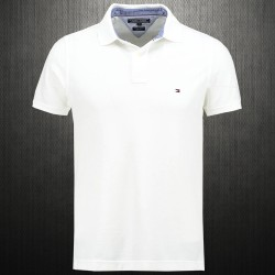 ~Tommy Hilfiger New Knit White Polo Shirt