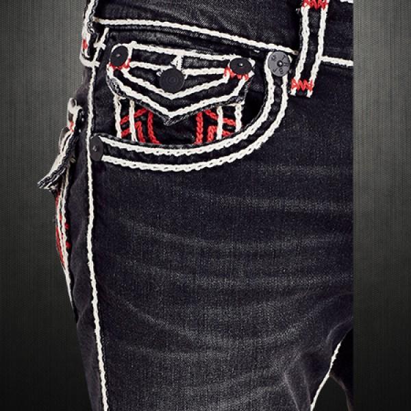 ~True Religion Men Black Dark Desire Straight Rope Stitch ...