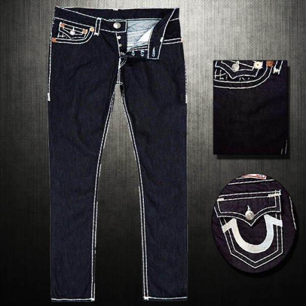 71acc2471f949 ~True Religion Indigo Slim Straight Denim Jeans Dark Blue Classic Wash |  Malaabes Online Shopping Store in Egypt Promoting Original Mens Designer  Clothing ...