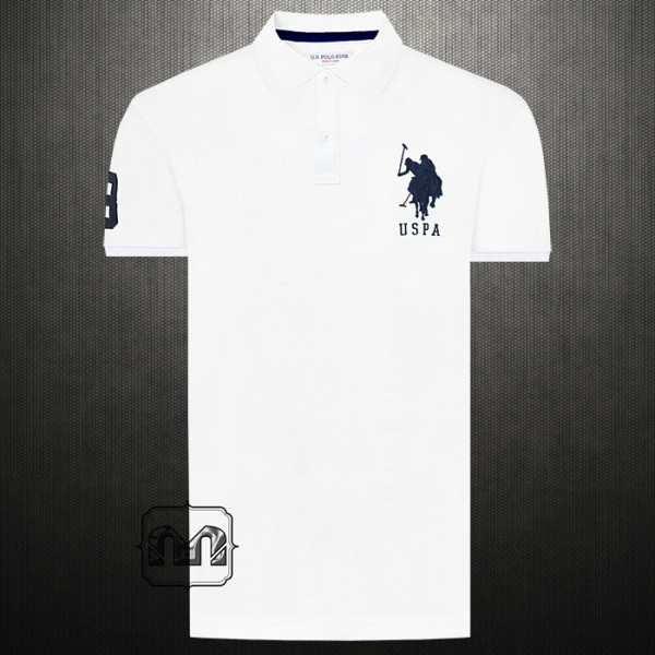 2802dc19 ~US Polo Assn Men Solid White Big Pony Casual Polo Tshirt With Number 3 On  Right Arm | Malaabes Online Shopping Store in Egypt Promoting Original Mens  ...