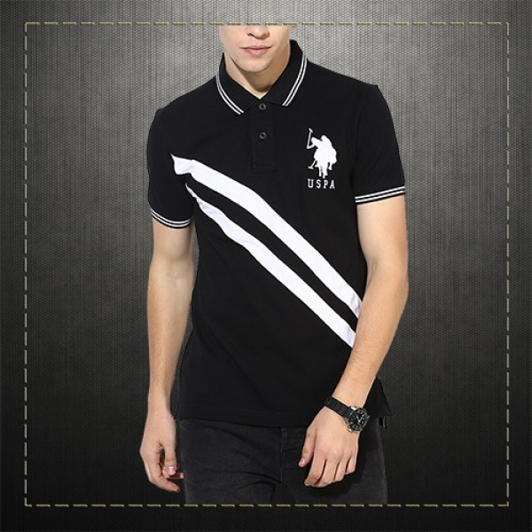 e98a1464 US Polo Assn USPA Men Black Cut Sew Polo Shirt Tipped Collar | Malaabes  Online Shopping Store in Egypt Promoting Original Mens Designer Clothing  Brands