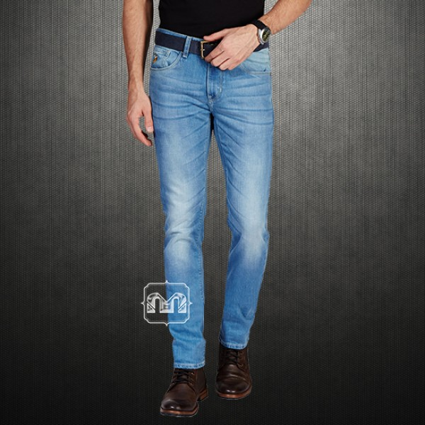 300c43b01 ~US Polo Assn Light Blue Lycra Slim Fit Jeans With Multicolored Logo  Embroidery On Pocket