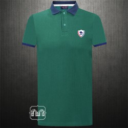 ~US Polo Assn Two Toned Green Navy Polo Tshirt With Chest Logo Embroidery