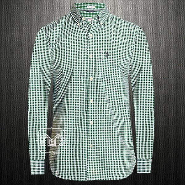 5261893d ~US Polo Assn USPA Men Green Gingham Mini Checked Button Down Shirt With US  Polo Chest Embroidery On Pocket | Malaabes Online Shopping Store in Egypt  ...