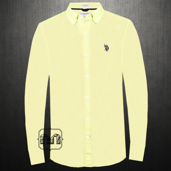4b4592d0 ~US Polo Assn Men Yellow Linen Button Down Casual Shirt With US Polo Chest  Embroidery | Malaabes Online Shopping Store in Egypt Promoting Original Mens  ...