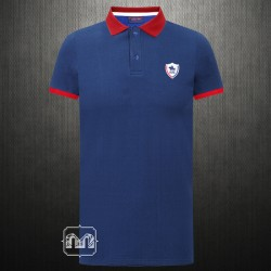 US Polo Assn Two Toned Navy Red Polo Tshirt With Chest Logo Embroidery