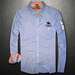 ~US Polo Assn Pencil Striped Long Sleeve Shirt With Arm Embroidery