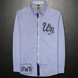 ~US Polo Assn Pencil Striped Long Sleeve Shirt Embroidered Chest